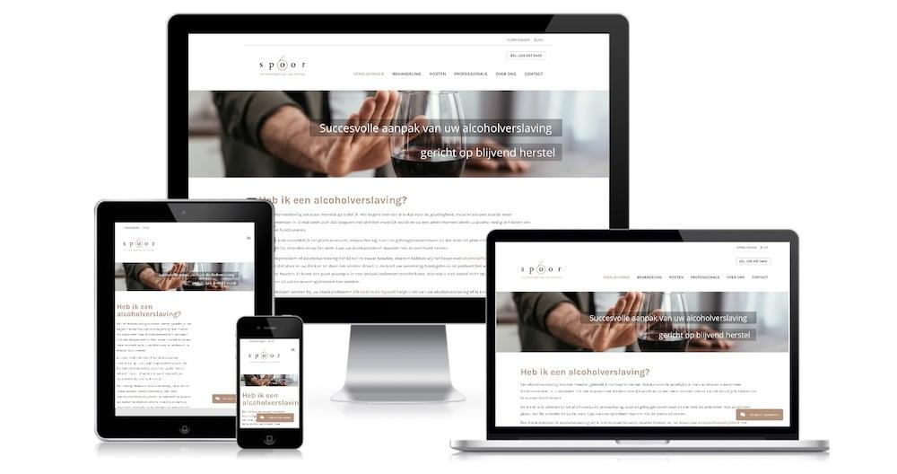 spoor6 website juffrouw jannie webdesign